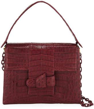 Nancy Gonzalez Medium Origami Knot Crocodile Shoulder Bag
