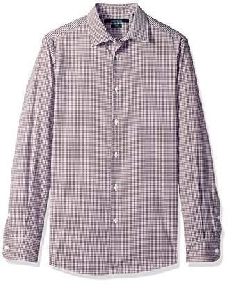 Perry Ellis Men's Mini Check Total Stretch Dress Shirt