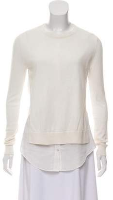 Theory Long Sleeve Rib Knit Top