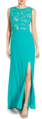 Morgan & Co. Lace Bodice Gown $90 thestylecure.com