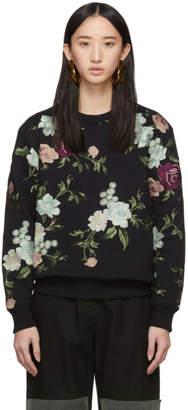 Erdem Black Embroidered Caitlin Sweatshirt