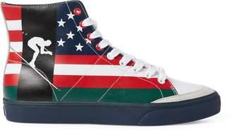 Ralph Lauren Solomon Flag-Print Sneaker