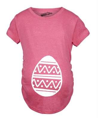 Crazy Dog T-shirts Crazy Dog Tshirts Maternity Easter Egg Baby Bump Tshirt it?s A Girl Pregnancy Announcment Tee -S