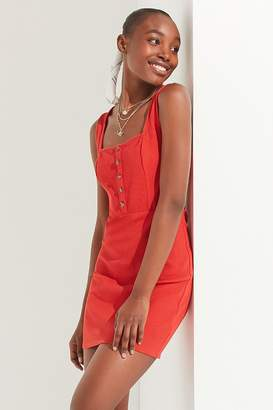 Urban Outfitters Square-Neck Button-Down Dress