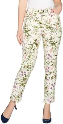 C. Wonder Petite Botanical Floral Print Ankle Jeans