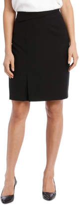 Textured Fold Detail Suit Skirt
