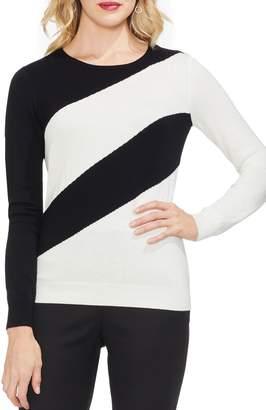 Vince Camuto Asymmetrical Stripe Sweater