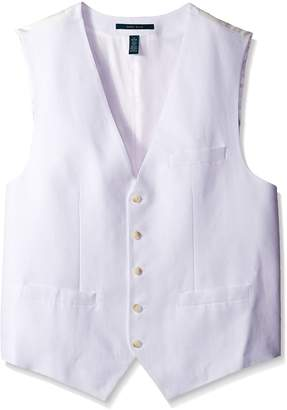 Perry Ellis Men's Big-Tall Linen Suit Vest