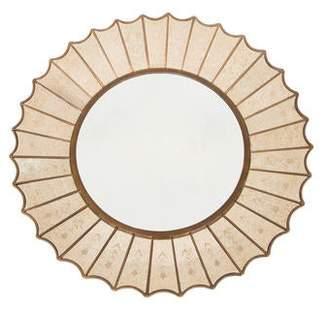Antiqued Sunburst Wall Mirror