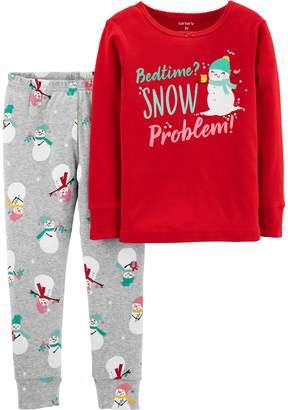 Carter's Toddler Girl Holiday Top & Bottoms Pajama Set