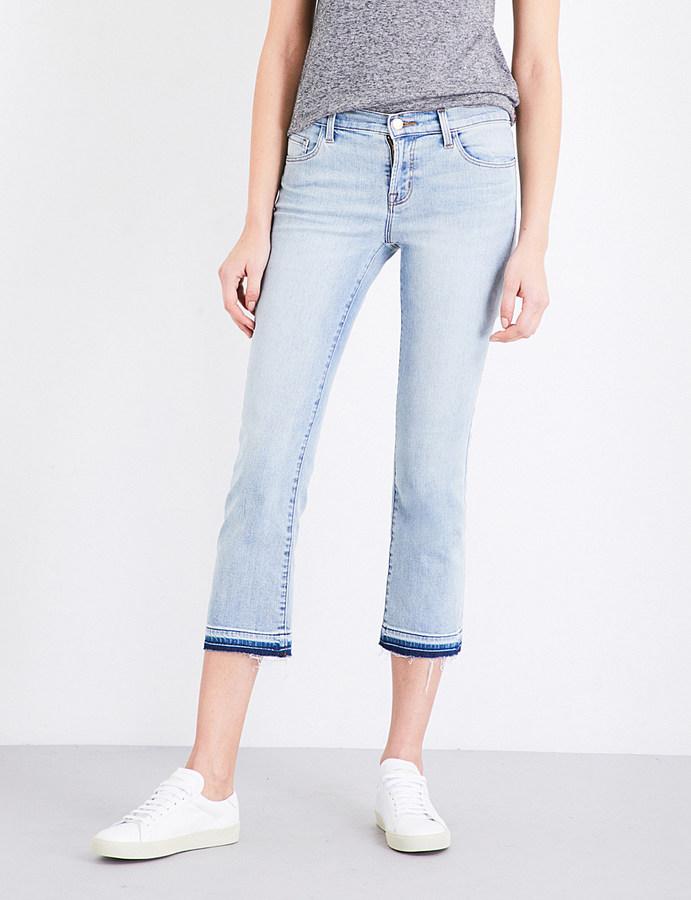 J BrandJ BRAND Selena cropped mid-rise jeans