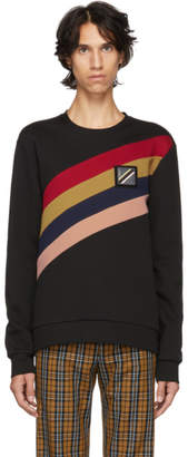 Fendi Black Asymmetric Forever Stripe Sweatshirt