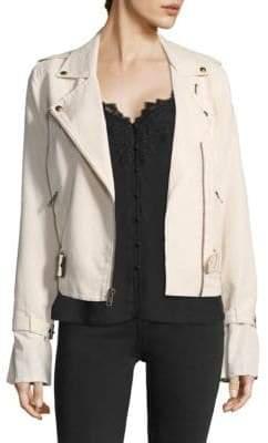 Paige Rhoda Twill Moto Jacket