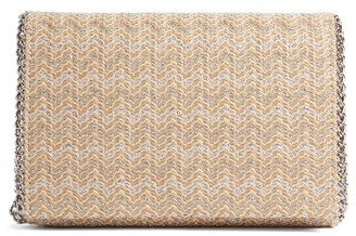 Chelsea28 Stripe Straw Convertible Clutch - Metallic $59 thestylecure.com