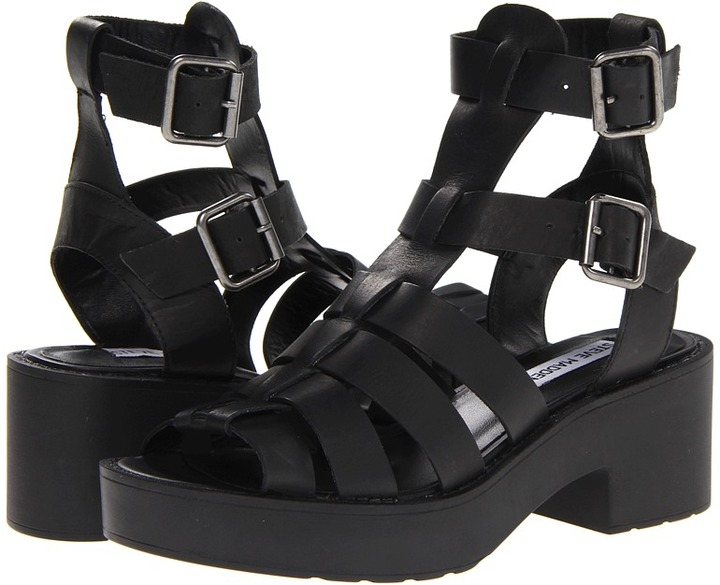 Steve Madden Schoolz (Black Leather) - Footwear