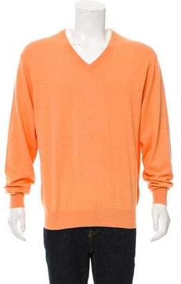 Peter Millar Woven V-Neck Sweater