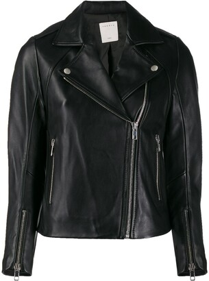 Sandro Paris biker-style moto jacket