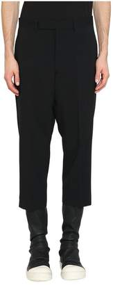 Rick Owens Black Wool Cropped Astaires Pants