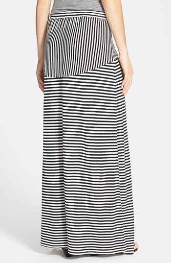 Vince Camuto Two by 'Parallel Lines' Drawstring Maxi Skirt