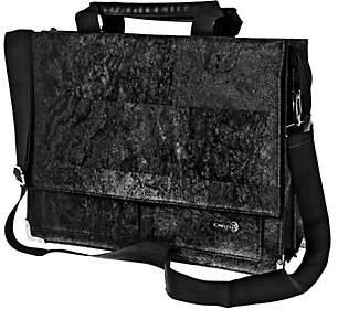Earth Cork Tondela Briefcase, Black