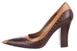 Tahari Leather Pointed-Toe Pumps