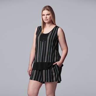 Vera Wang Women's Plus Size Simply Vera Tank & Boxer Set