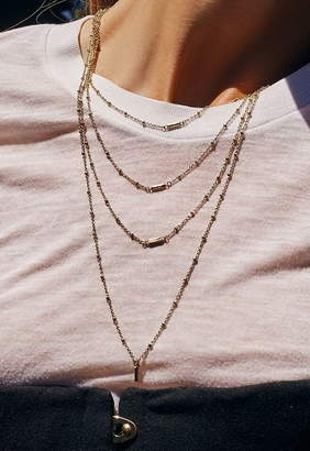 Luv Aj The Ombre Bar Multi Charm Necklace
