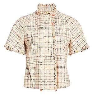 Akris Punto Women's Short Sleeve Tweed Jacket
