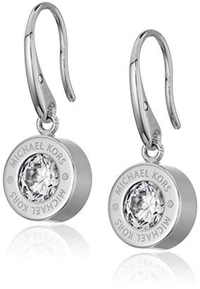 Michael Kors Logo -Tone and Crystal Drop Earrings