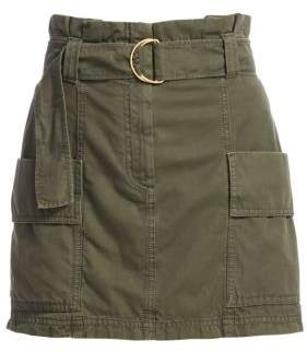 A.L.C. Women's Kai Belted Cargo Mini Skirt - Army - Size 0