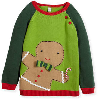 Zubels Boys' Knit Gingerman Sweater