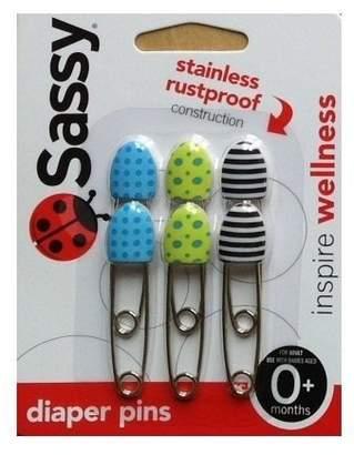 Sassy Deco Diaper Pins 6-pack