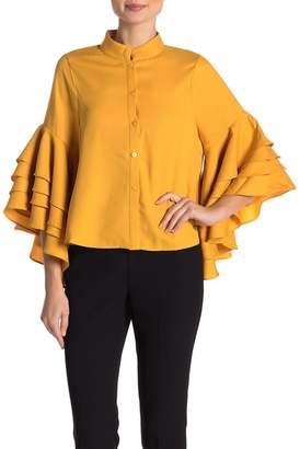 Gracia Tiered Ruffle Sleeve Blouse