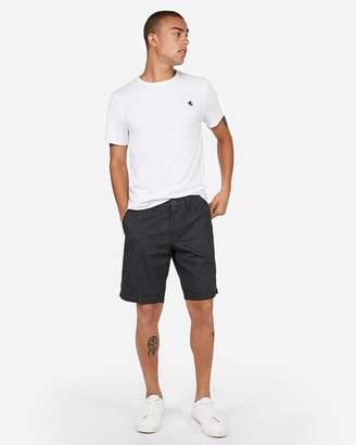 Express Slim 9 Inch Stretch Textured Shorts