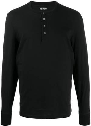 Tom Ford half-button long-sleeve T-shirt