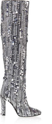 Alberta Ferretti Over-The-Knee Sequined Boots