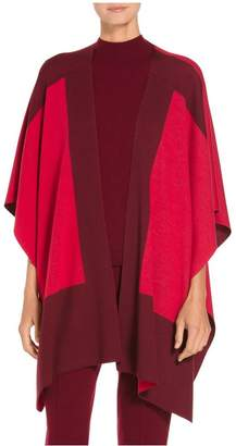 St. John Color Block Double Knit Wrap