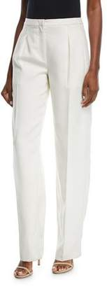 Narciso Rodriguez Mid-Rise Wide-Leg Wool Pants