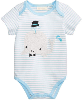 First Impressions Striped Whale Bodysuit, Baby Boys, Created for Macy's