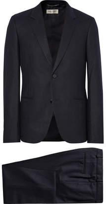 Saint Laurent Midnight-Blue Slim-Fit Pinstriped Wool-Flannel Suit