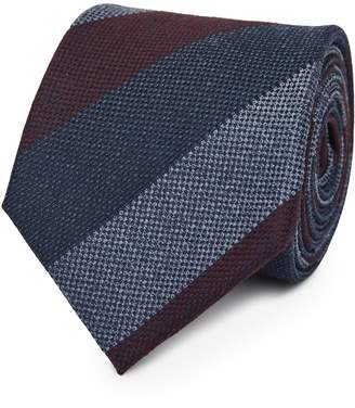 Reiss Our last order date for Christmas has now passed CADEN STRIPED TIE Burgundy