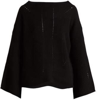 Nili Lotan - Leyton Ribbed Knit Cashmere Sweater - Womens - Black