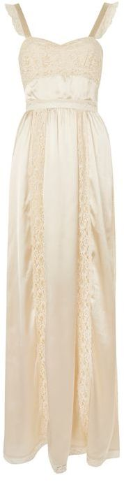 Topshop Topshop **satin lace maxi dress