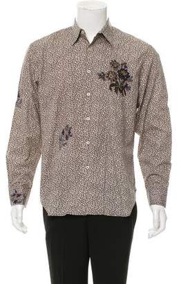 Paul Smith Embroidered Floral Shirt