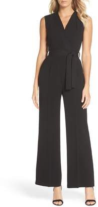 Tahari Sleeveless Crepe Jumpsuit