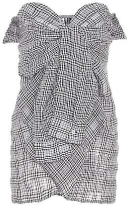 Unravel Plaid cotton and linen blouse