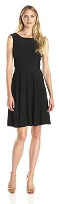 Julian Taylor Women's Sleeveless Flare Dress with Waist Inset