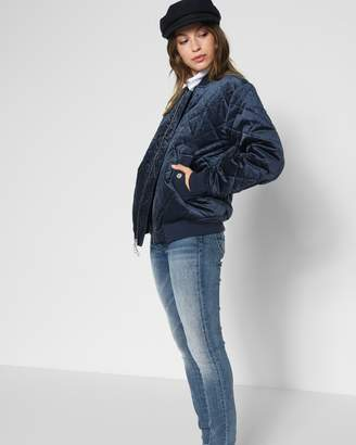7 For All Mankind Boyfriend Bomber Jacket in Navy