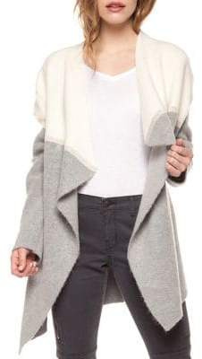 Dex Colourblocked Long-Sleeve Cardigan