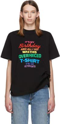 Vetements Black Birthday T-Shirt